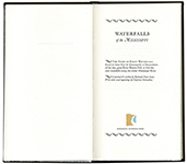 <em>Waterfalls of the Mississippi</em> by Richard Arey - Title page